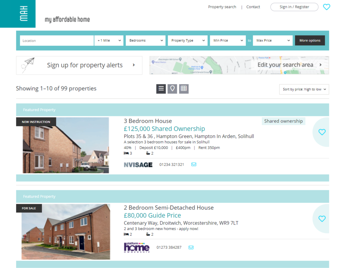 affordable Estate agency marketing portals by nvisage