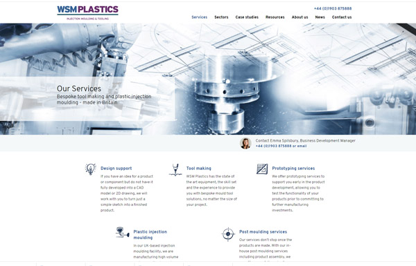 WSM UK recycled plastic injection moulding specialists manufacturing specialist website design agency
