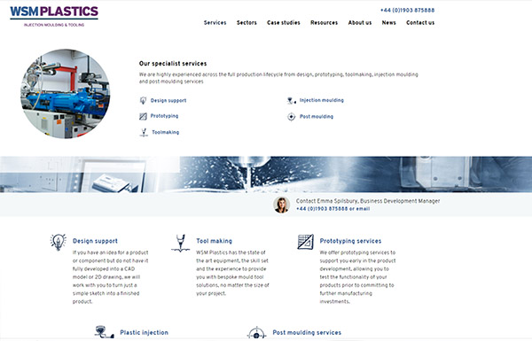 WSM UK tool makers and injection moulding specialists manufacturing specialist website design agency